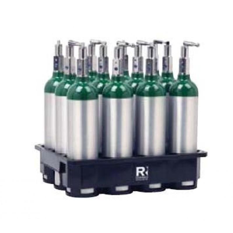 8 Cylinder Plastic Rack For M6 Medical Oxygen Cylinders